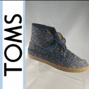 Toms Fabric ankle boots High top orange leopard 7